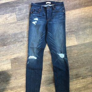 Loft curvy skinny distressed jean